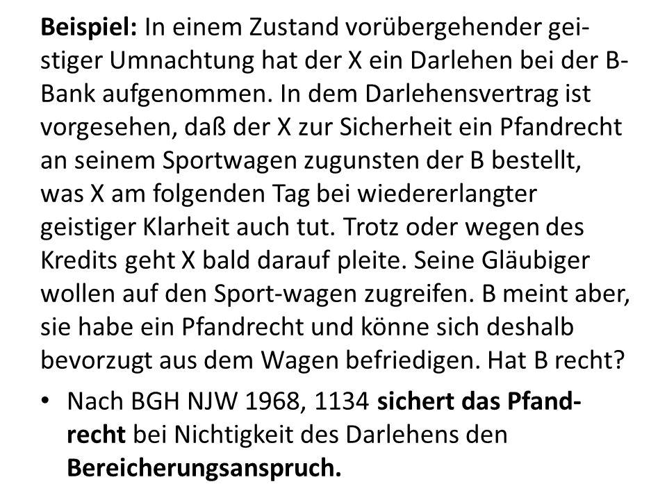 ii.Die Bestellung des Pfandrechts (§ 1205 ff.