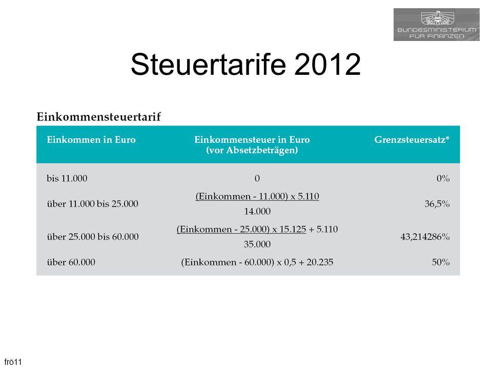 frö11 Steuertarife 2012