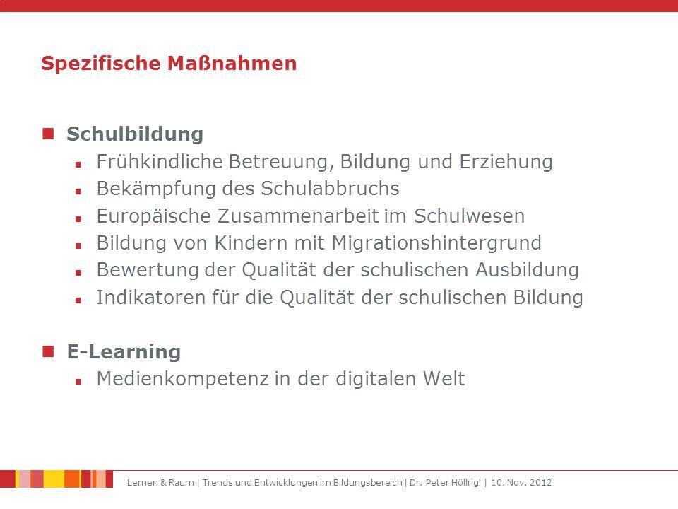 Lernen & Raum | Trends und Entwicklungen im Bildungsbereich | Dr.