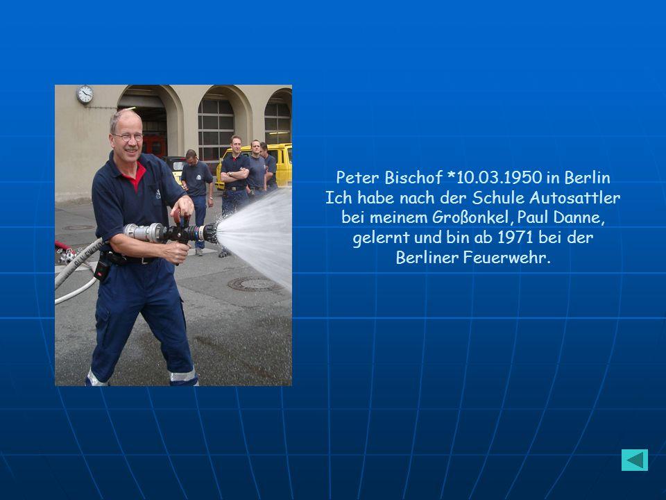 Gerhard und Herta Bischof Gerhard *18.08.1920 in Berlin Herta *15.02.1924 in Hanshagen/Pommern Gerhard lernte Elektriker, wurde Soldat und arbeitete d