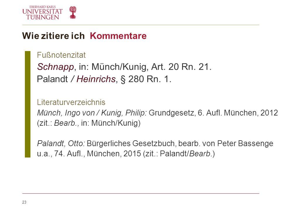 23 Fußnotenzitat Schnapp, in: Münch/Kunig, Art. 20 Rn.