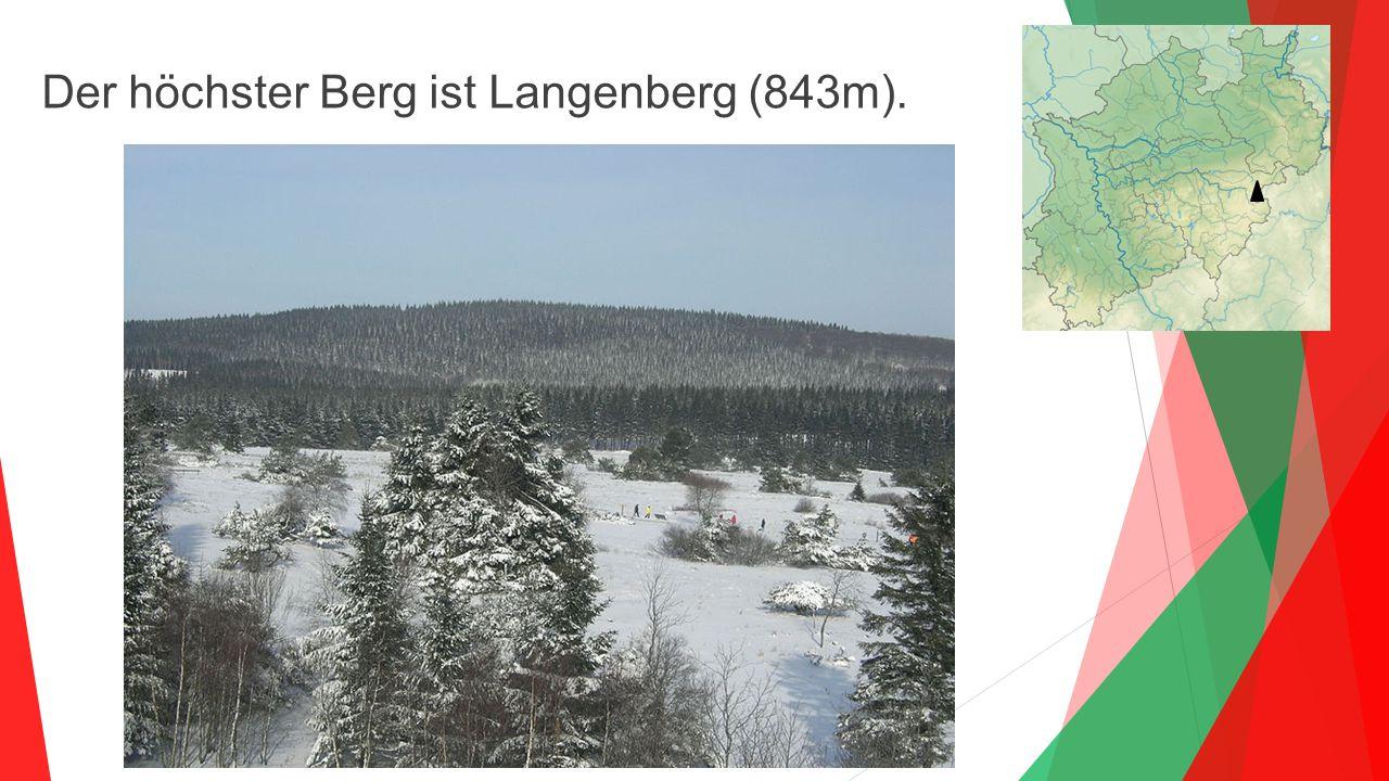 Der höchster Berg ist Langenberg (843m).
