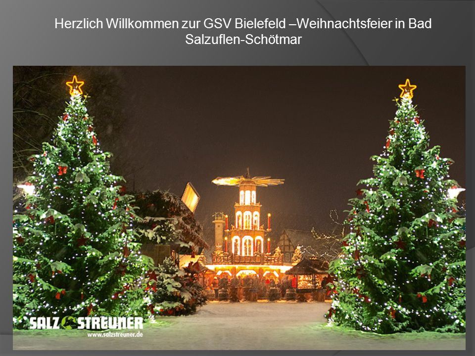 Herzlich Willkommen zur GSV Bielefeld –Weihnachtsfeier in Bad Salzuflen-Schötmar