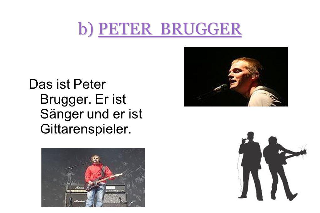 c) RÜDIGER LINHOF Das ist Rüdiger Linhof. Er ist Bassspieler. Sein Beiname ist « Rüde ».