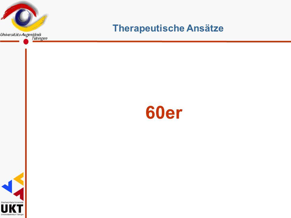 60er Therapeutische Ansätze