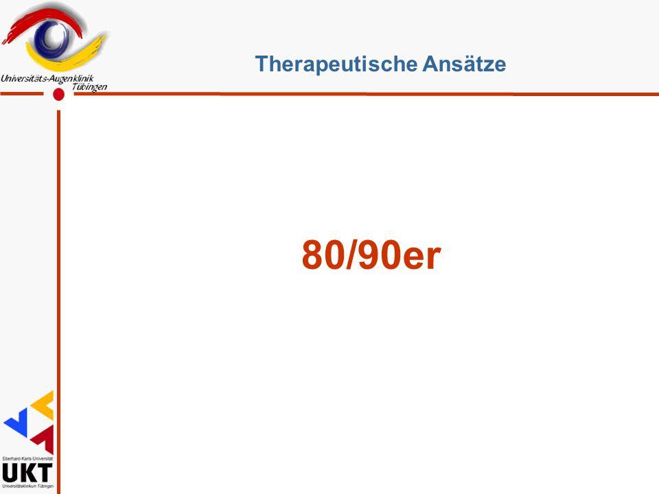 80/90er Therapeutische Ansätze