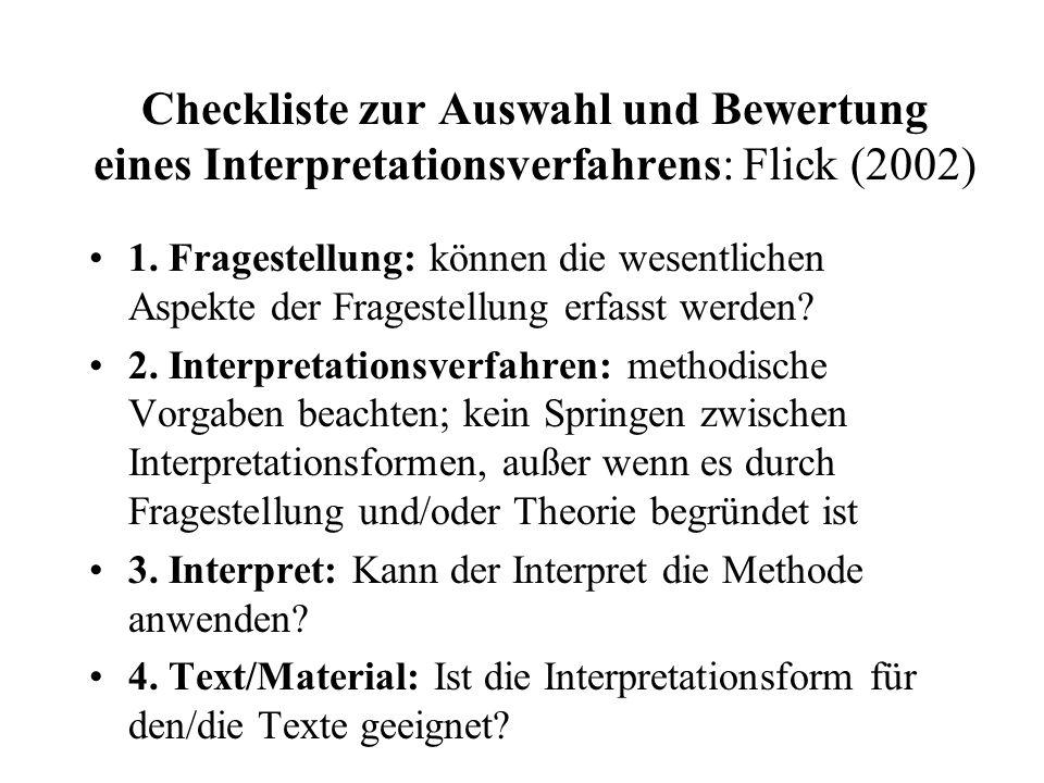 Checkliste Interpretationsverfahren: 5.