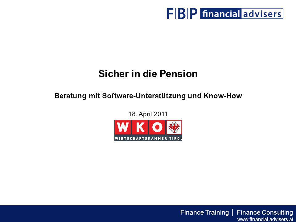 """Finance Training │ Finance Consulting www.financial-advisers.at """"Der Garantiezins wird von 2,25 % auf 2 % p.a."""