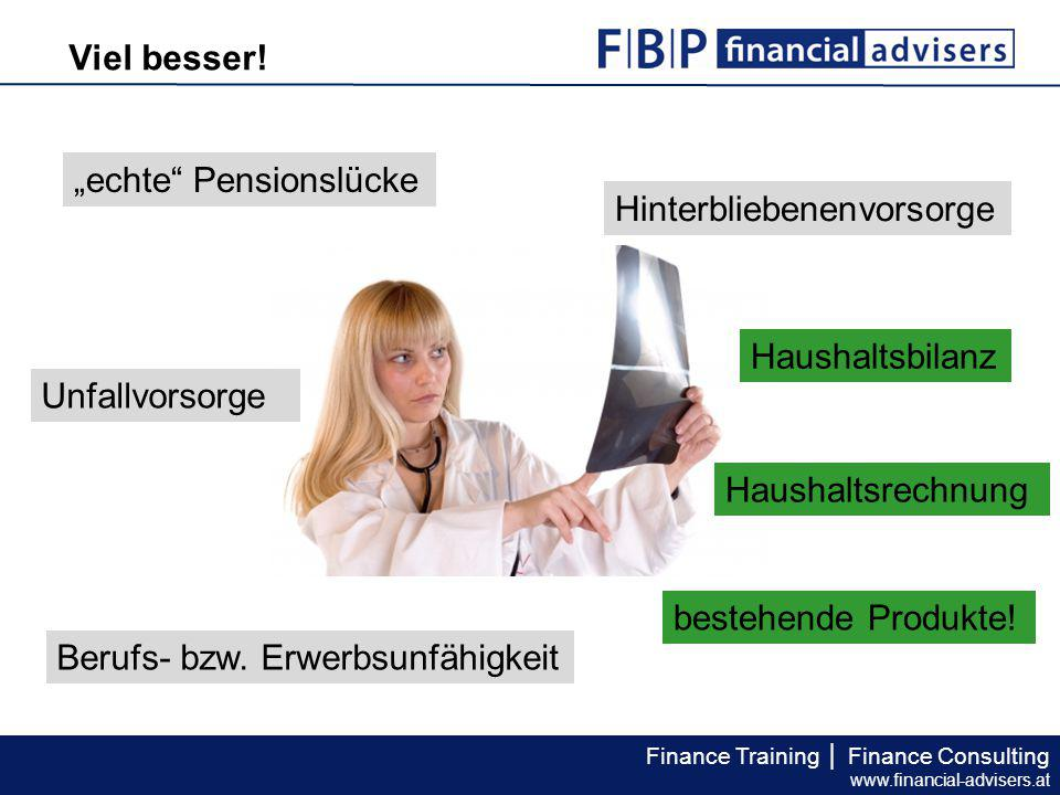 Finance Training │ Finance Consulting www.financial-advisers.at Viel besser.