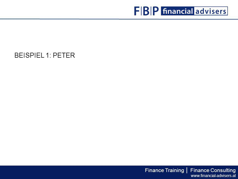 Finance Training │ Finance Consulting www.financial-advisers.at Der Steuerberater empfahl private und/oder betriebliche Vorsorgeformen zu nutzen.