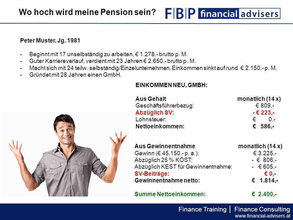 Finance Training │ Finance Consulting www.financial-advisers.at BEISPIEL 2: FRAU MUSTERMANN