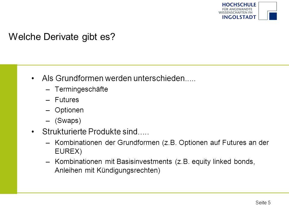 """Seite 26 Teil II Struktur und theoretische Bewertung (""""Pricing ) von Termingeschäften"""