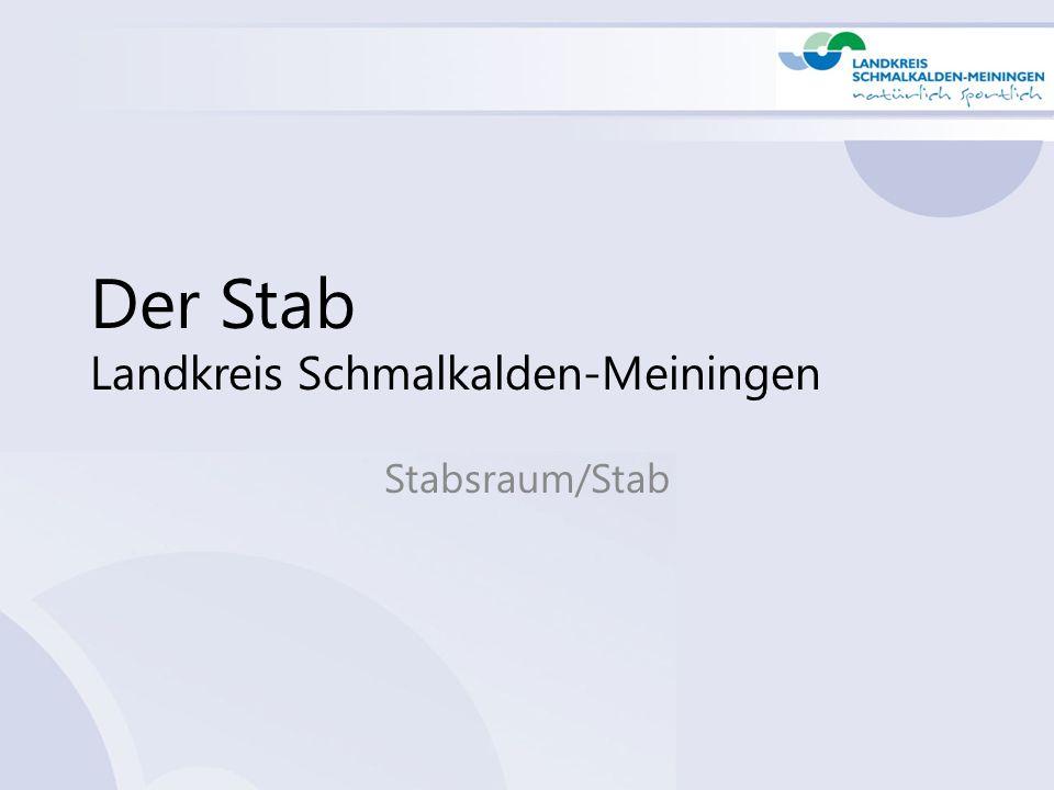 Der Stab Landkreis Schmalkalden-Meiningen Stabsraum/Stab