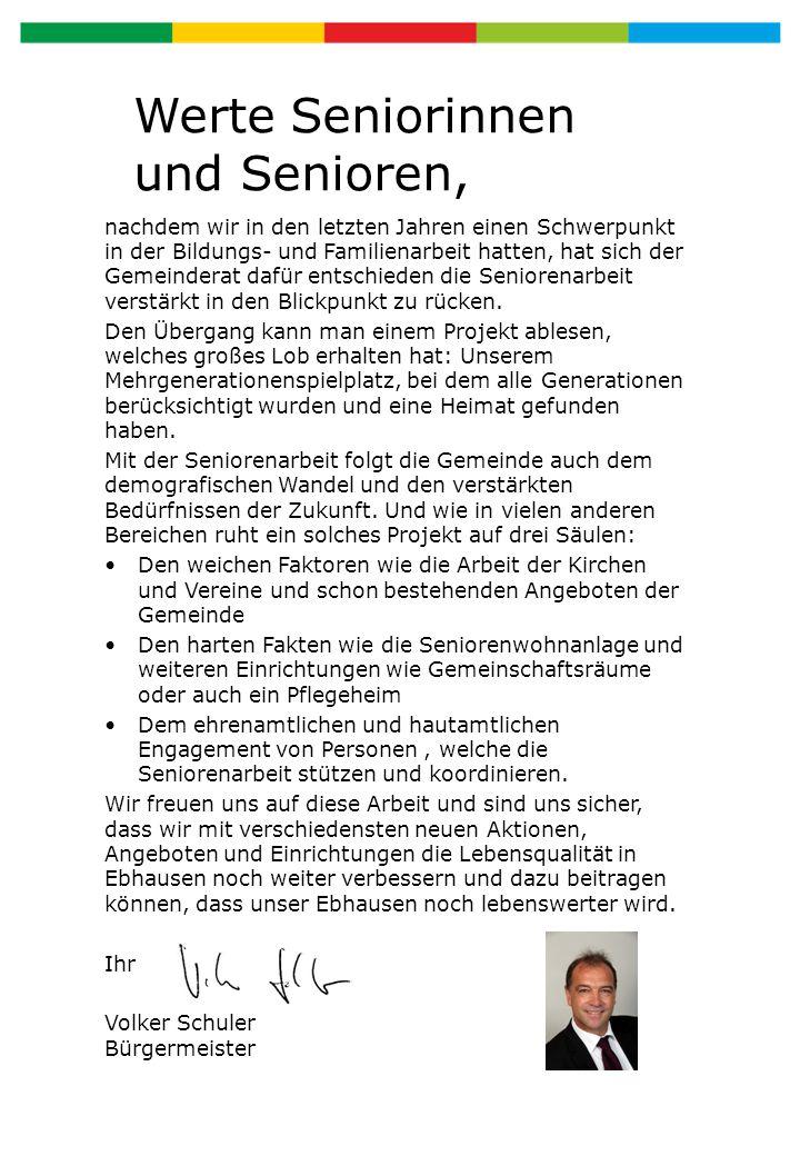 Arbeitsgemeinschaft Senioren Ebhausen e.V.Die Arbeitsgemeinschaft Senioren Ebhausen e.V.