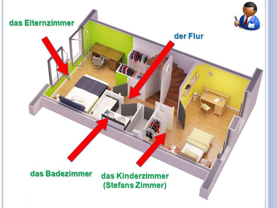 das Elternzimmer der Flur das Badezimmer das Kinderzimmer (Stefans Zimmer)