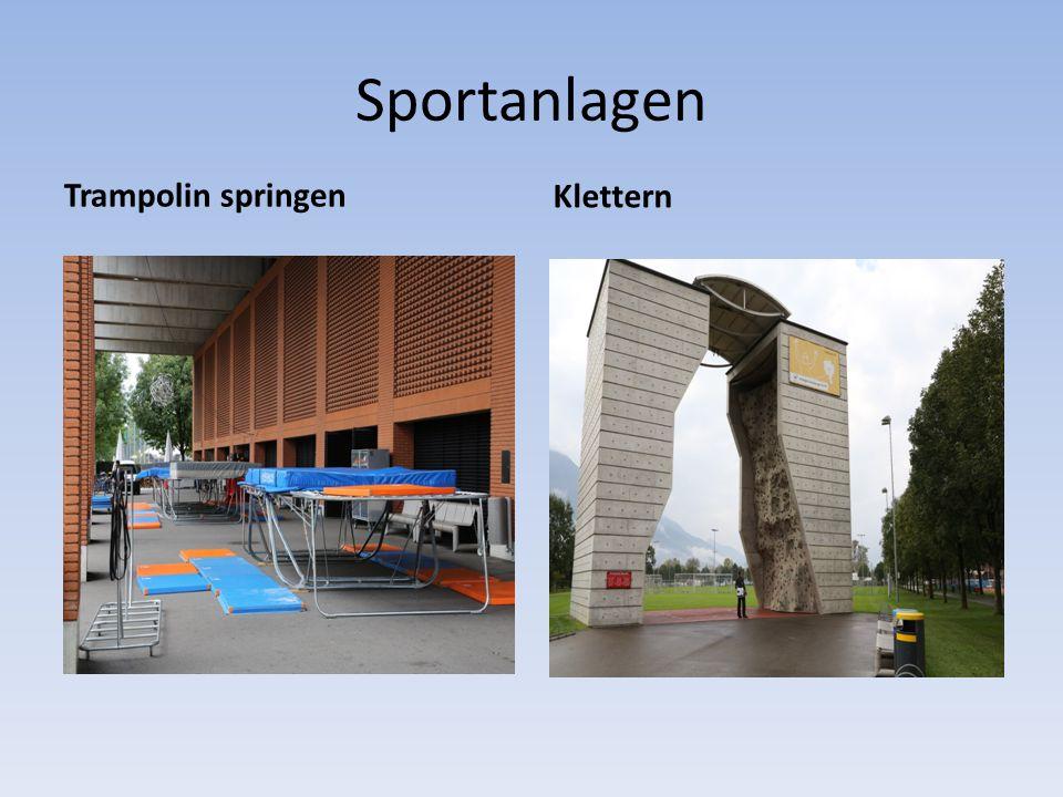 Sportanlagen Trampolin springen Klettern