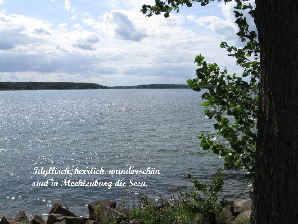Idyllisch, herrlich, wunderschön sind in Mecklenburg die Seen.