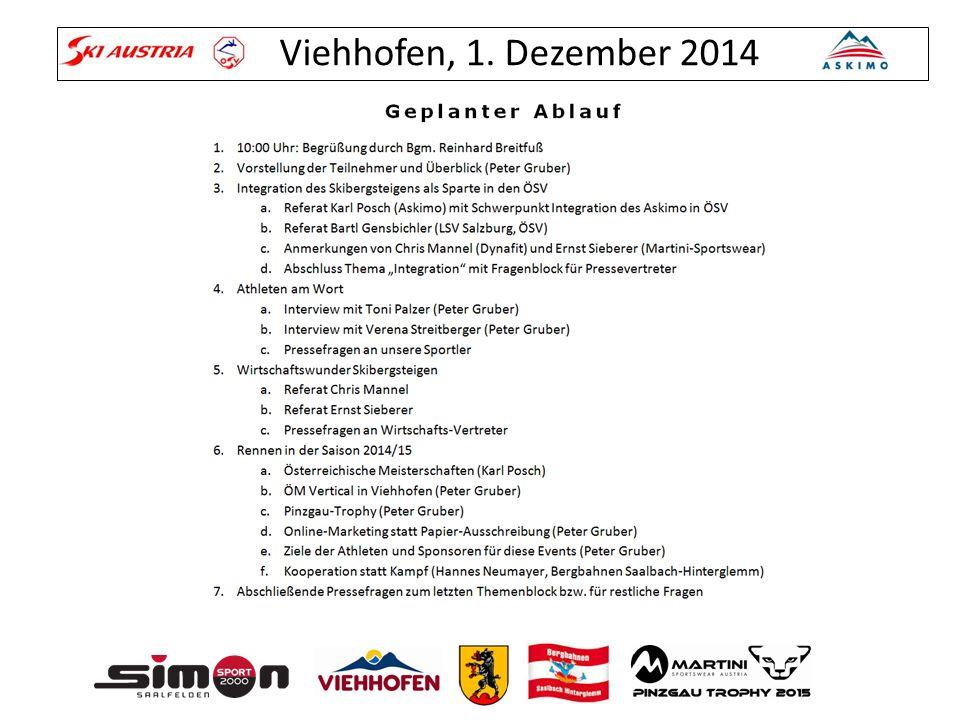 Viehhofen, 1. Dezember 2014