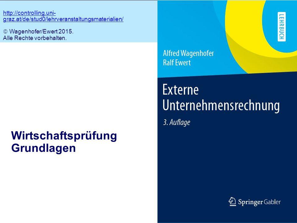 1.1 Wirtschaftsprüfung Grundlagen http://controlling.uni- graz.at/de/stud0/lehrveranstaltungsmaterialien/  Wagenhofer/Ewert 2015. Alle Rechte vorbeha