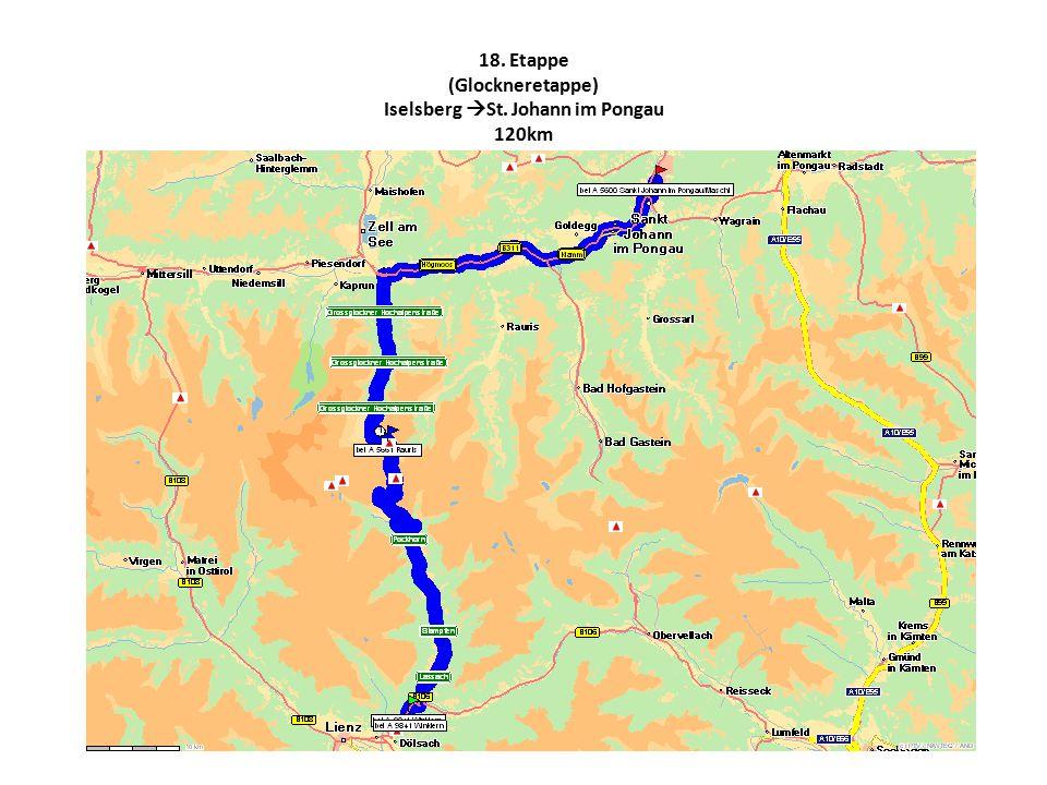 18. Etappe (Glockneretappe) Iselsberg  St. Johann im Pongau 120km