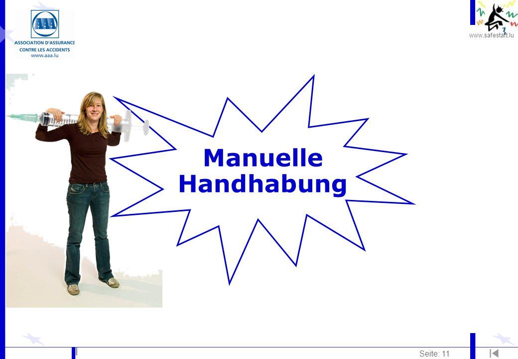 www.safestart.lu Seite: 11 Manuelle Handhabung