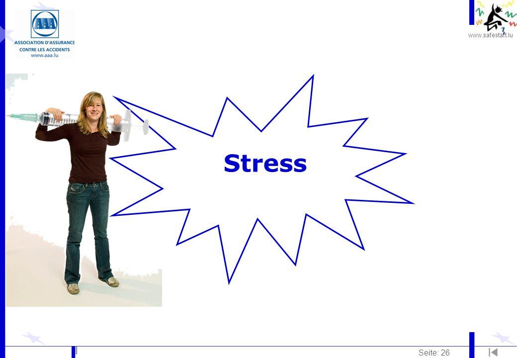 www.safestart.lu Seite: 26 Stress