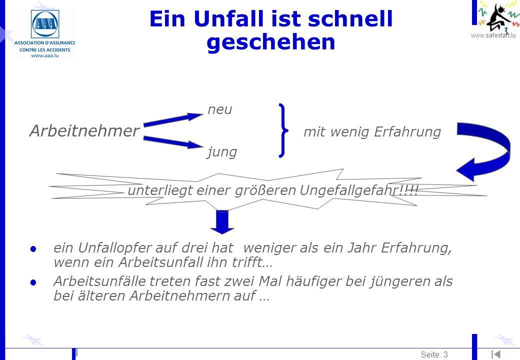 """www.safestart.lu Seite: 4 Was sind """"Risiken ."""