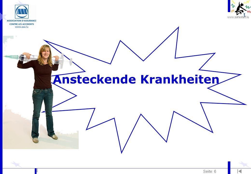 www.safestart.lu Seite: 17 Rückenschmerzen Verhüting: Es ist nicht immer möglich, das Arbeitsumfeld zu verändern.