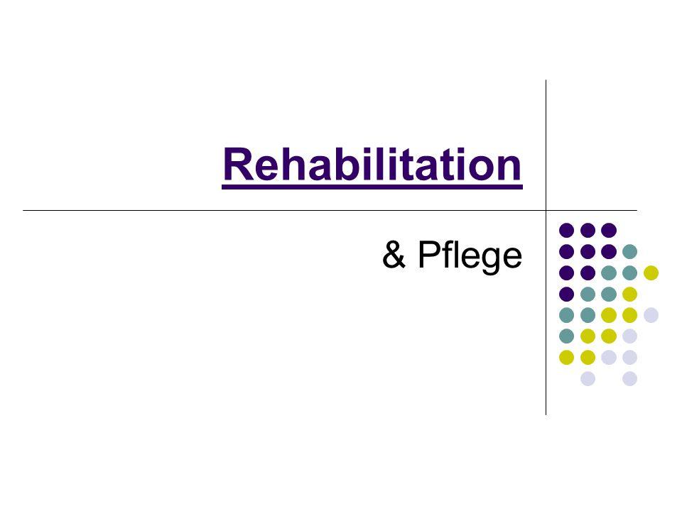 2 Definition 1 WHO 1967 Rehabilitation ist die Gesamtheit der Aktivitäten, die nötig sind, um dem Behinderten bestmögliche körperliche, geistige und soziale Bedingungen zu sichern, die es ihm erlauben, mit seinen eigenen Mitteln einen möglichst normalen Platz in der Gesellschaft einzunehmen.