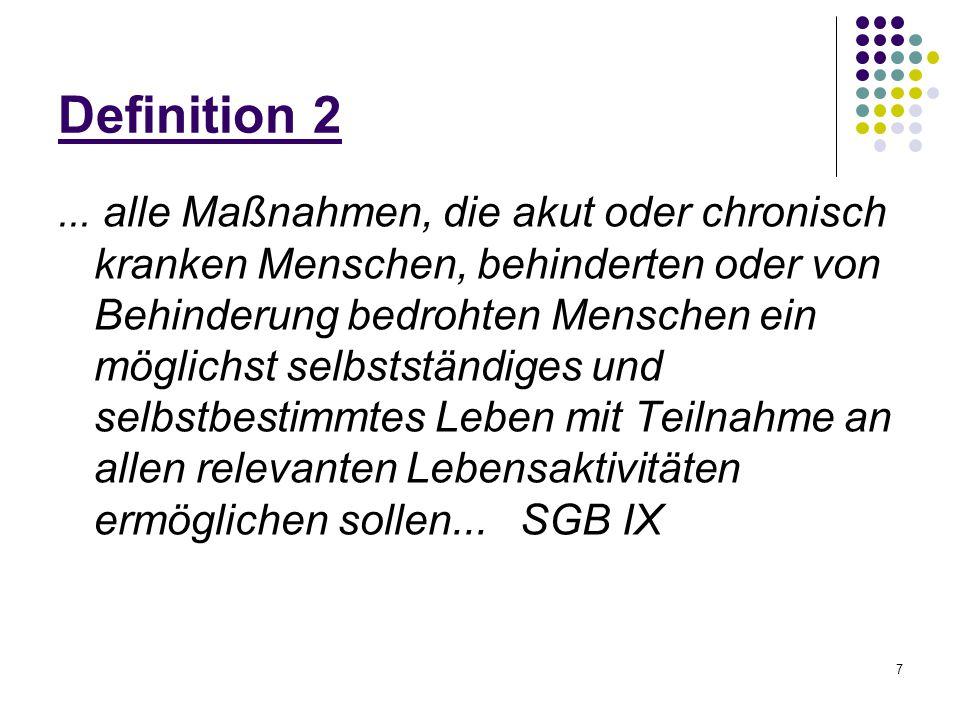 28 Empfänger von Reha-Leistungen Klärung des Rehabilitationsbedarfes und der Rehabilitationsfähigkeit -> somatische Verfassung.