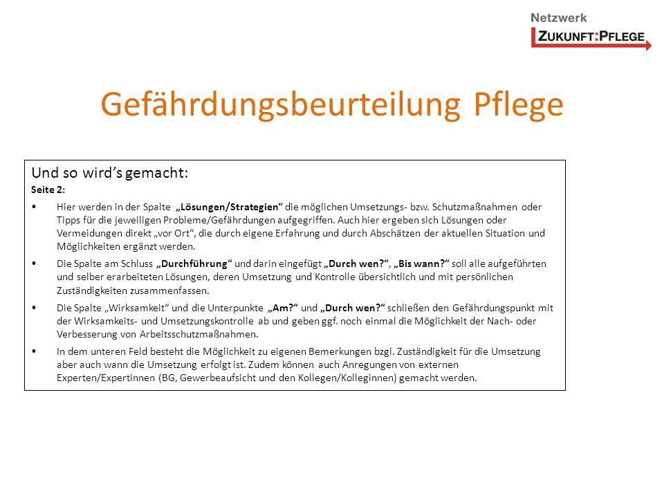 Problem/GefährdungGrundlage (z.B.