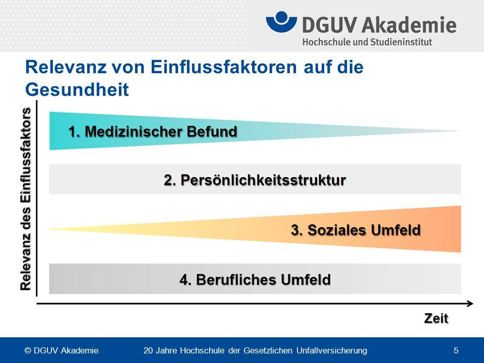 Relevanz von Einflussfaktoren auf die Gesundheit © DGUV Akademie 20 Jahre Hochschule der Gesetzlichen Unfallversicherung 5