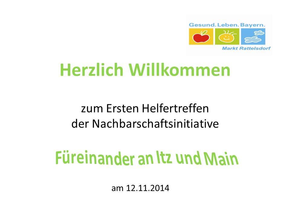 Herzlich Willkommen zum Ersten Helfertreffen der Nachbarschaftsinitiative am 12.11.2014