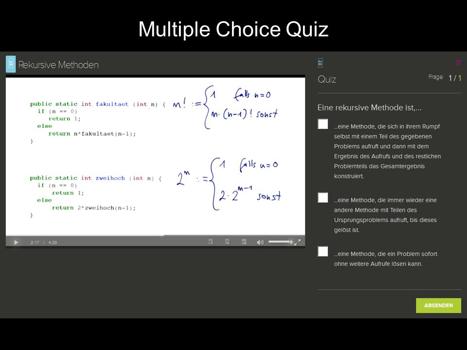 Multiple Choic Quiz Multiple Choice Quiz