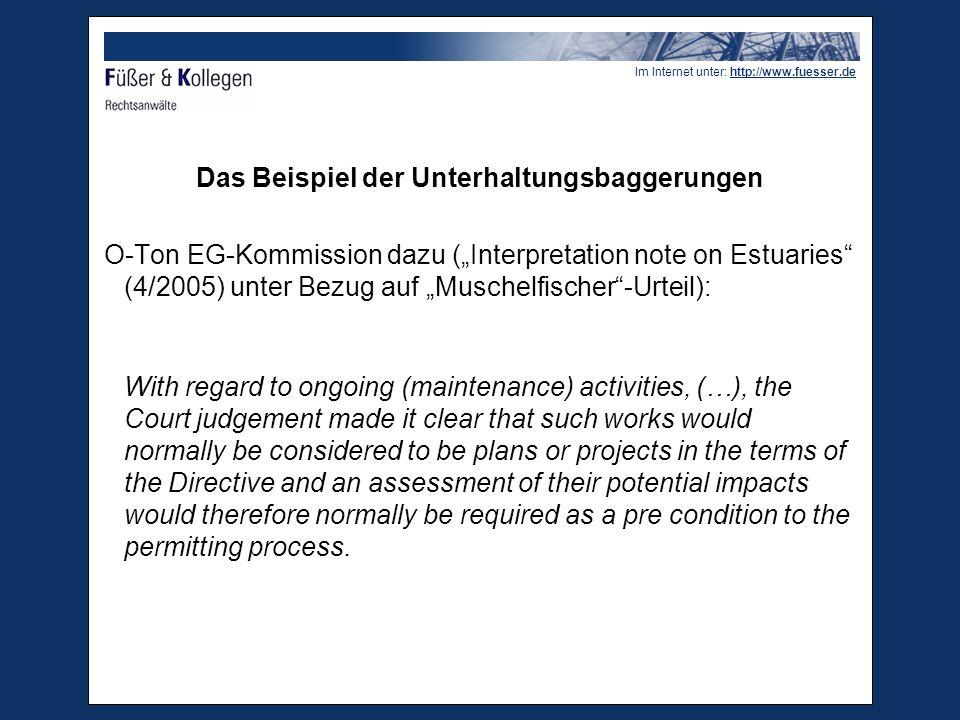 Im Internet unter: http://www.fuesser.de Projekte EuGH, Urt.