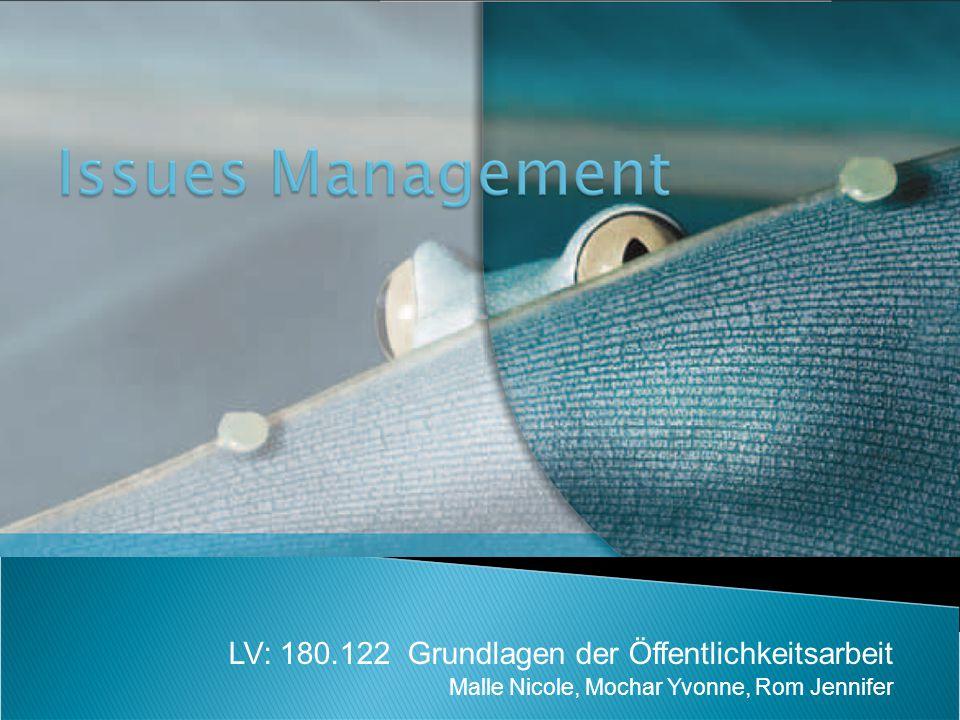 Ingenhoff, Diana/ Röttger, Ulrike (2008): Issue Management.