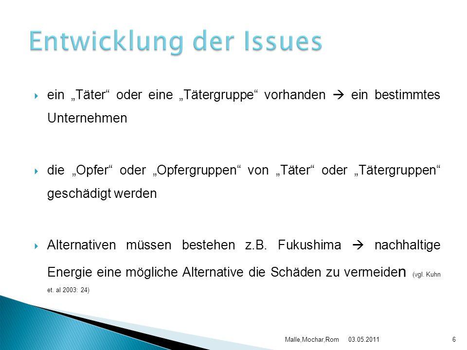 03.05.2011Malle,Mochar,Rom17 Quelle: Kuhn Michael/Kalt Gero/Kinter Achim (2003): Chefsache Issues Management; Ein Instrument zur strategischen Unternehmensführung – Grundlagen, Praxis, Trends.