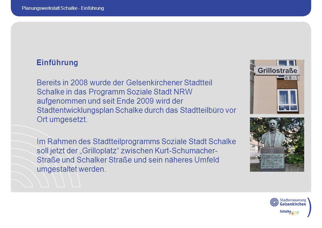 Bereits in 2008 wurde der Gelsenkirchener Stadtteil Schalke in das Programm Soziale Stadt NRW aufgenommen und seit Ende 2009 wird der Stadtentwicklungsplan Schalke durch das Stadtteilbüro vor Ort umgesetzt.