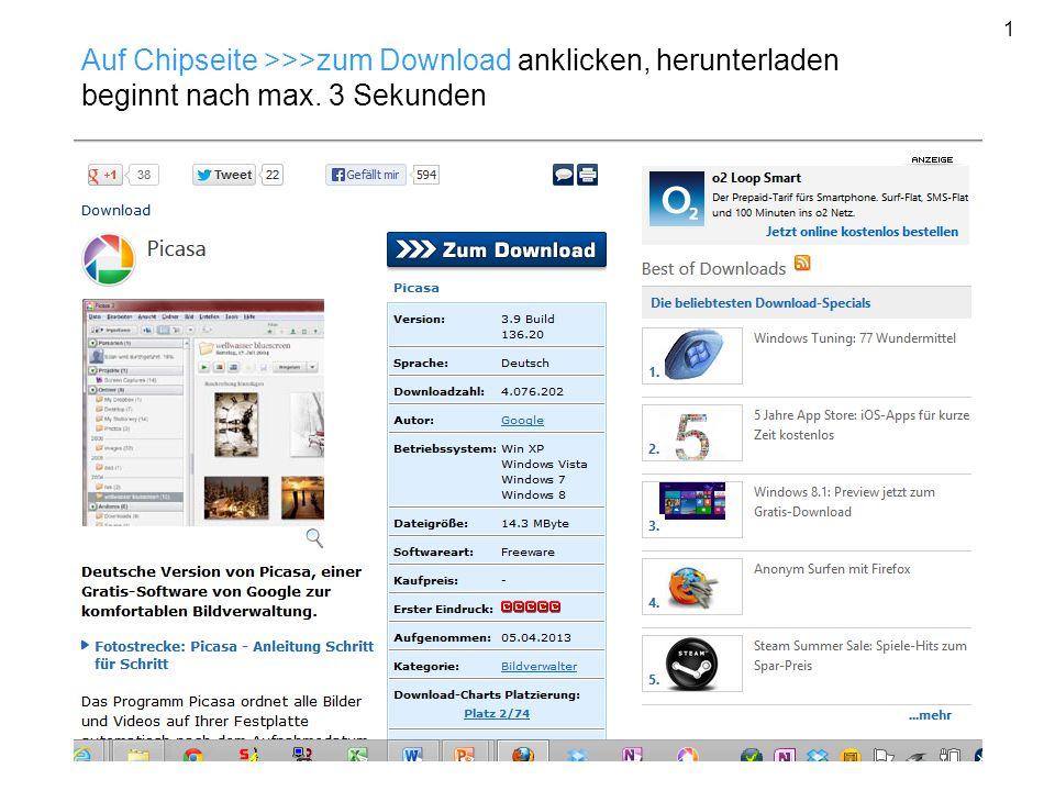 Auf Chipseite >>>zum Download anklicken, herunterladen beginnt nach max. 3 Sekunden 1