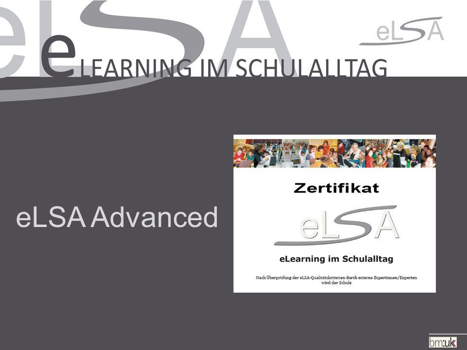 eLSA Advanced Ziele 9.Verhaltensvereinbarungen –Verhaltensvereinbarungen enthalten den Umgang mit neuen Medien.