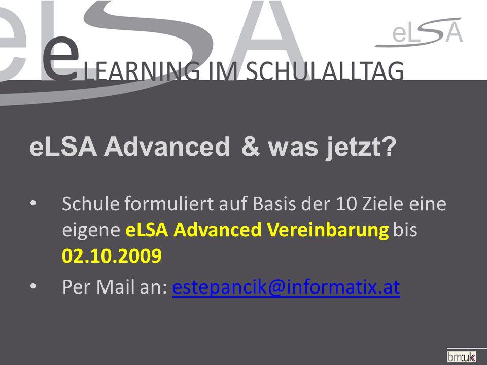 eLSA Advanced & was jetzt.