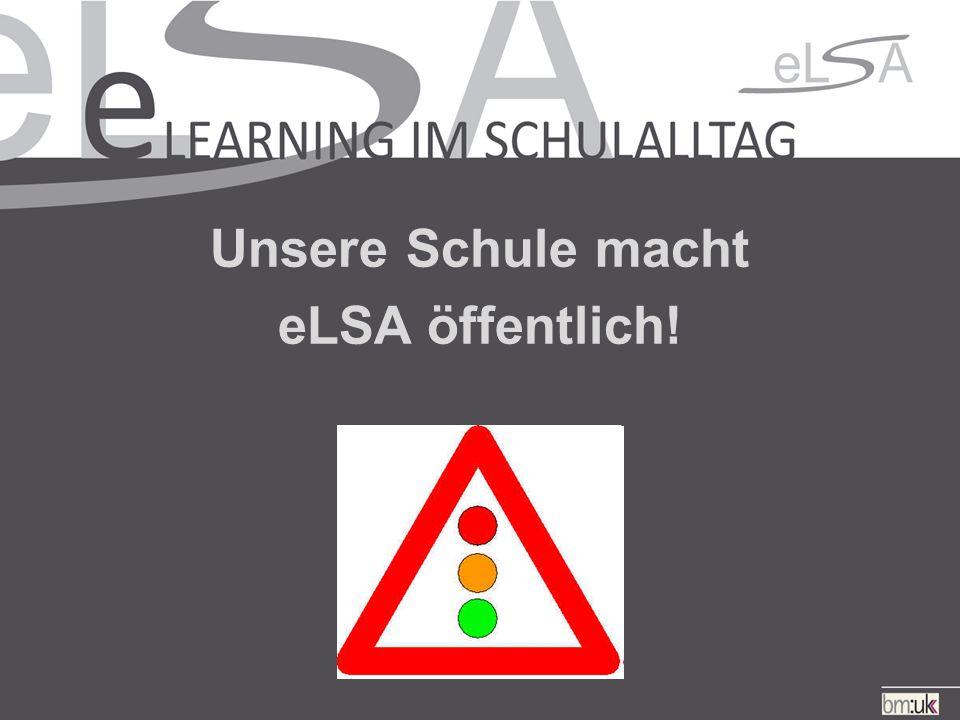 Unsere Schule macht eLSA öffentlich!