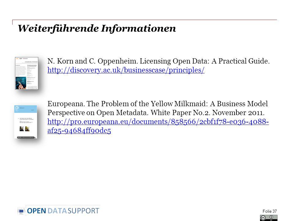 Weiterführende Informationen N. Korn and C. Oppenheim.
