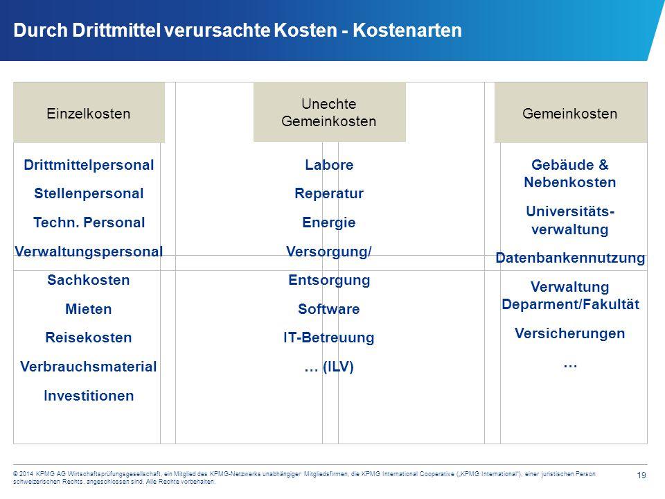 """19 © 2014 KPMG AG Wirtschaftsprüfungsgesellschaft, ein Mitglied des KPMG-Netzwerks unabhängiger Mitgliedsfirmen, die KPMG International Cooperative ("""""""