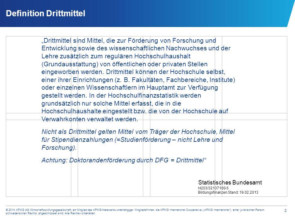 """13 © 2014 KPMG AG Wirtschaftsprüfungsgesellschaft, ein Mitglied des KPMG-Netzwerks unabhängiger Mitgliedsfirmen, die KPMG International Cooperative (""""KPMG International ), einer juristischen Person schweizerischen Rechts, angeschlossen sind."""