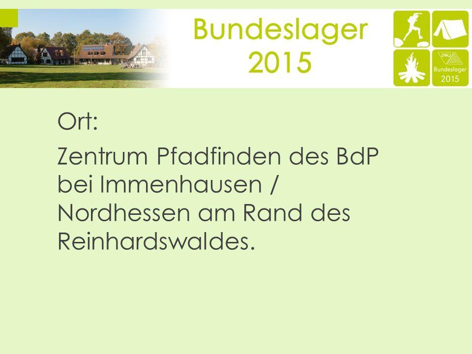 Ort: Zentrum Pfadfinden des BdP bei Immenhausen / Nordhessen am Rand des Reinhardswaldes.