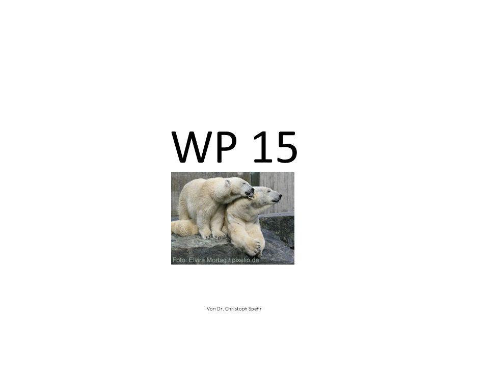 WP 15 Von Dr. Christoph Spehr
