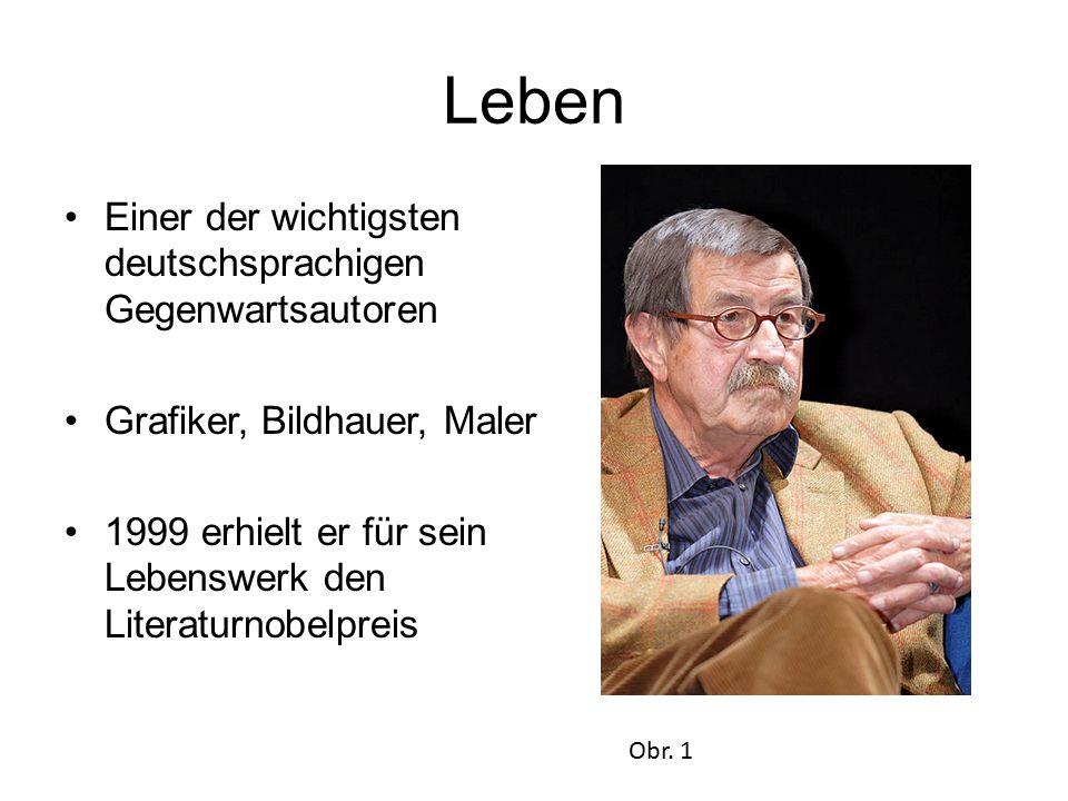 Leben Einer der wichtigsten deutschsprachigen Gegenwartsautoren Grafiker, Bildhauer, Maler 1999 erhielt er für sein Lebenswerk den Literaturnobelpreis Obr.