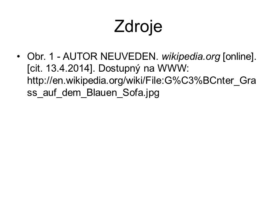 Zdroje Obr. 1 - AUTOR NEUVEDEN. wikipedia.org [online].
