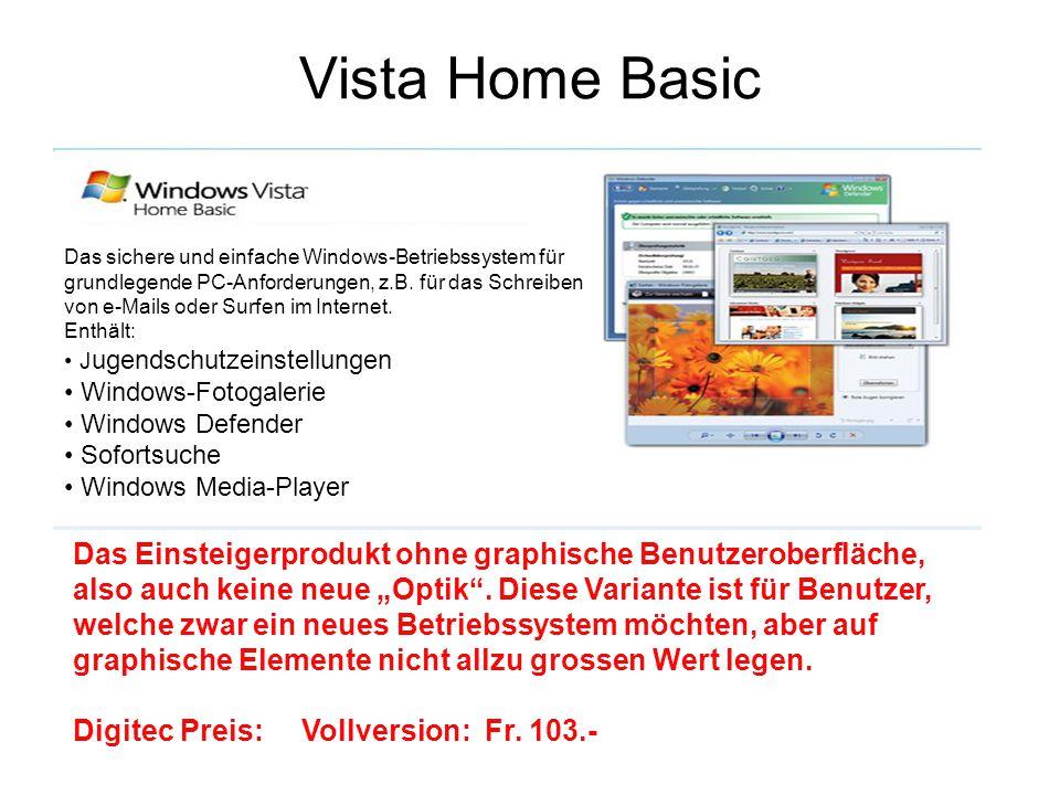 Vista Home Premium Erweiterte Ausgabe für den Privatgebrauch.